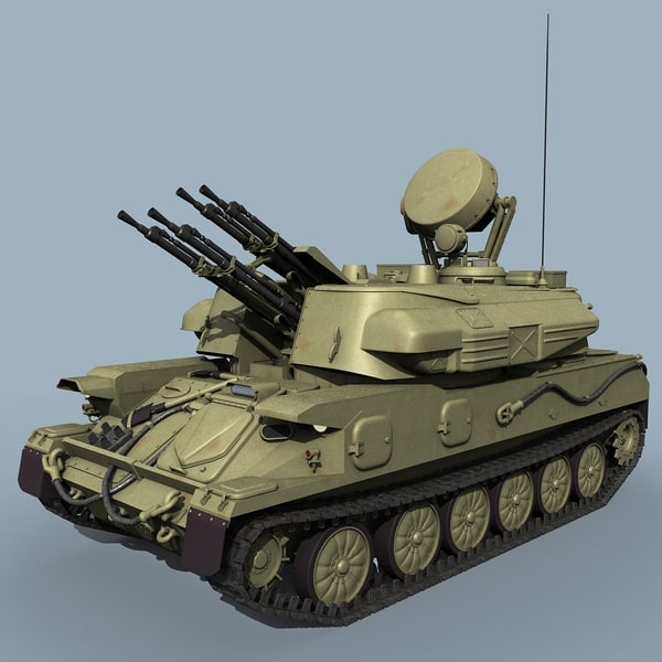 3d model russian zsu-23-4 shilka zsu