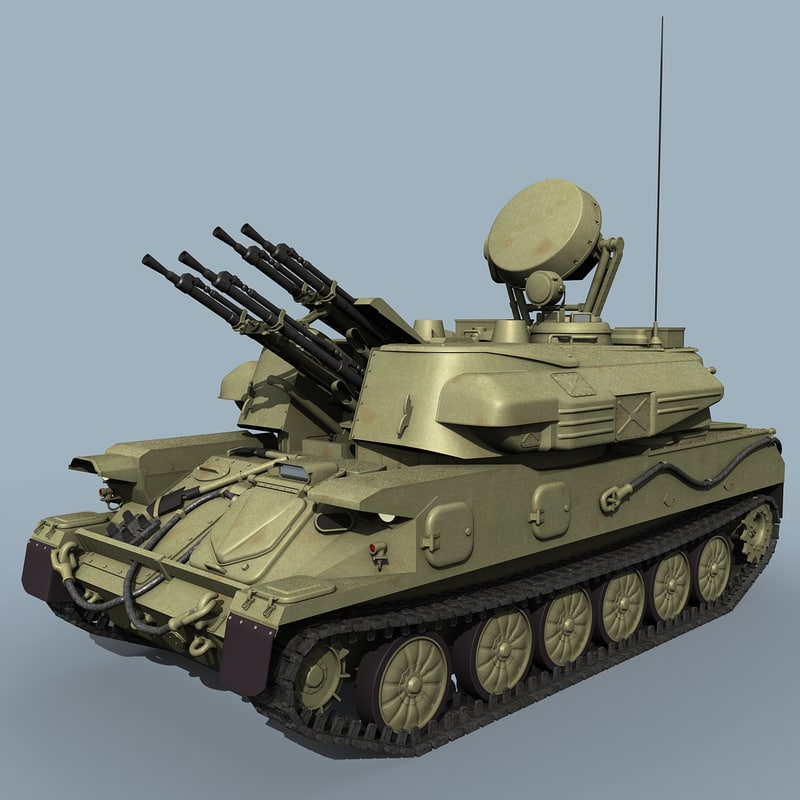 3d model russian zsu-23-4 shilka zsu