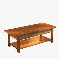 coffee table rustic oak 3d max