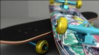 3d model of skateboard