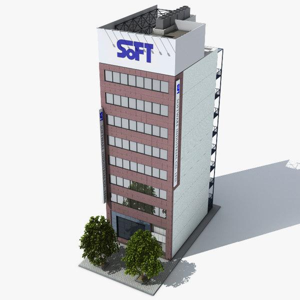 3d lwo japan building tokio