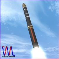 3d model of russian missile ss-29 yars