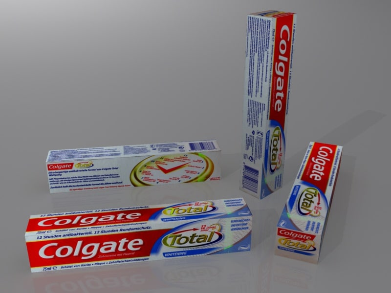 3d model of toothpaste box