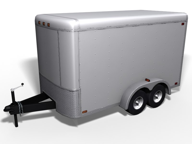 tow trailer 3d model