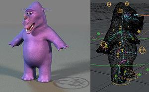 free toon rhino 3d model