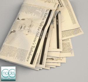 wall street newspaper 3d model