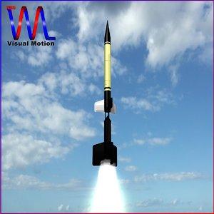 3d sounding rocket wac corporal model