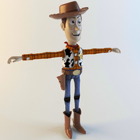 woody sheriff 3d max