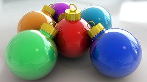 c4d christmas tree decoration ball