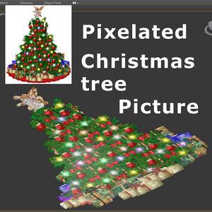 max pixelated christmas tree