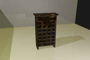 wine rack 3d 3ds