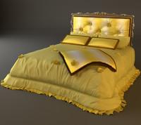 3d bed headboard padded