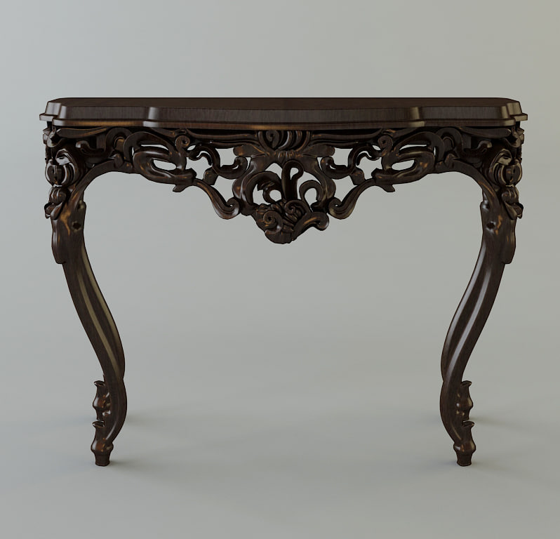 3d table console classical model