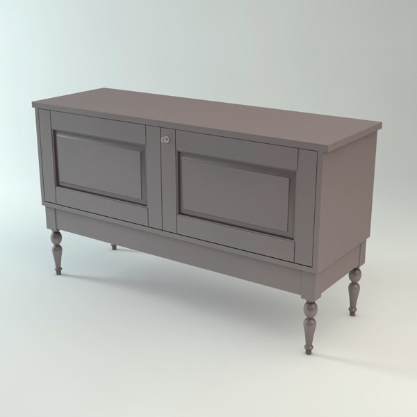 Ikea isala sideboard cabinet 3d model for Sideboard 3d