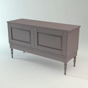 ikea isala sideboard cabinet 3d model