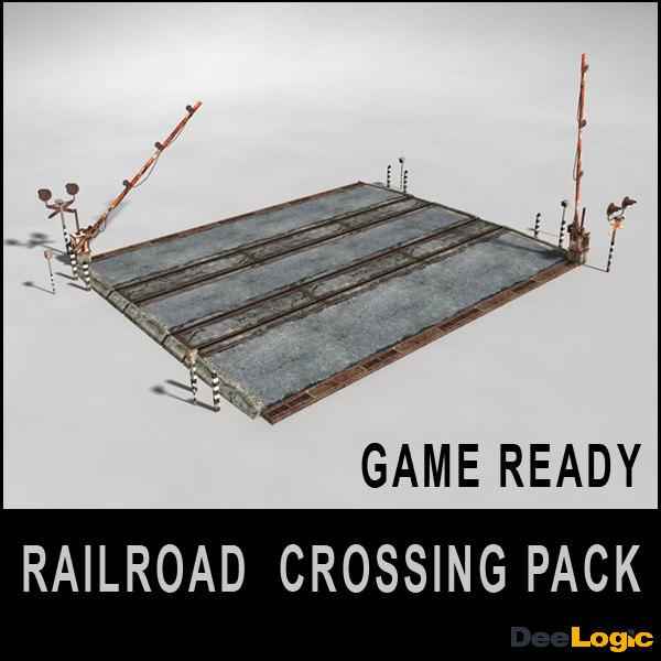3ds max railroad crossing