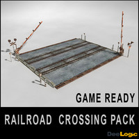 3ds max railroad crossing