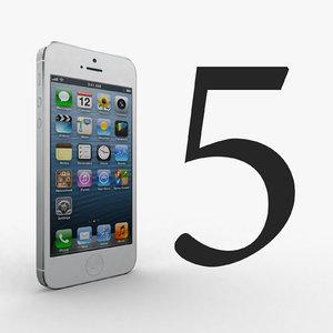 3d phone 5 model