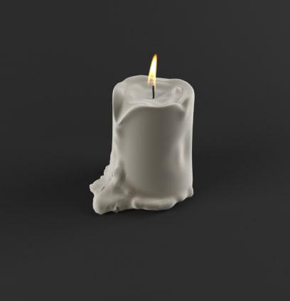 3d max candle decor