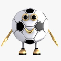 3ds max football soccer character
