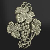relief vine 3d model