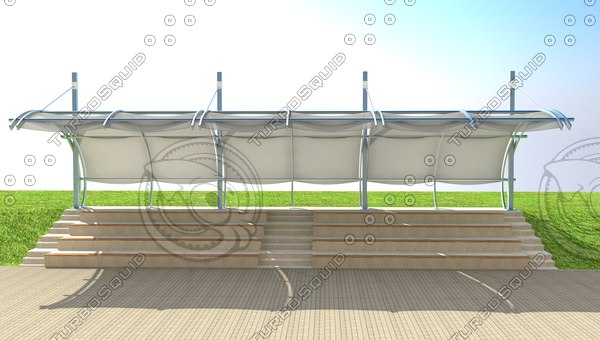tribune structure 3d model