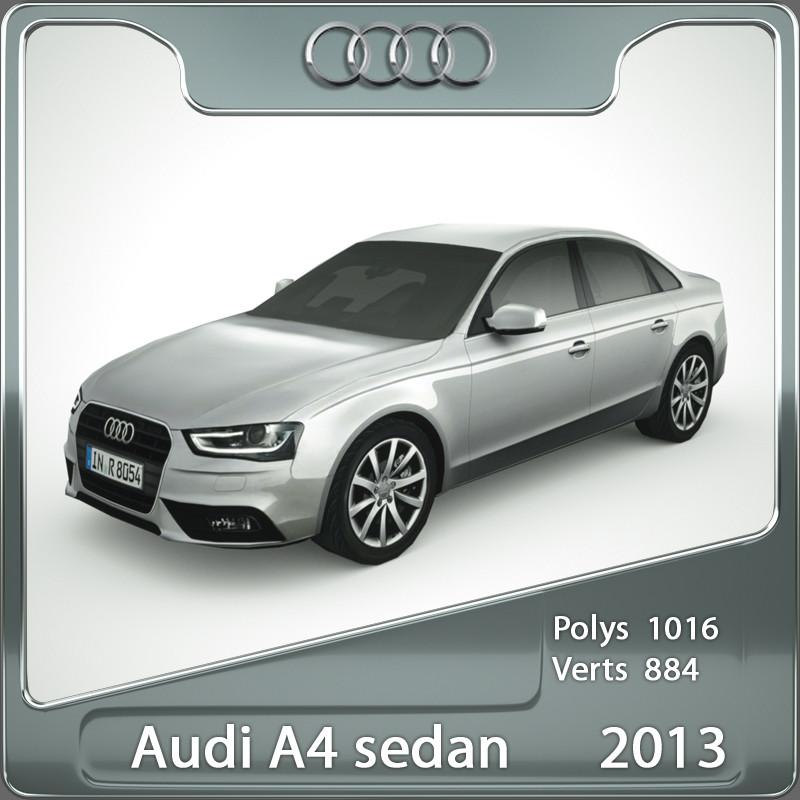 3d 2013 audi a4 model