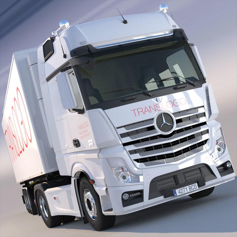 3d new mercedes actros mp4 model