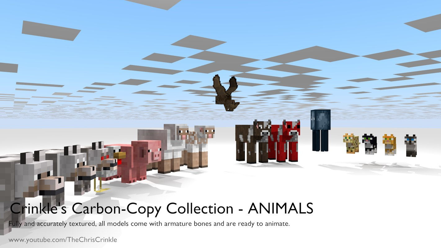 3d crinkle rigged animate - model