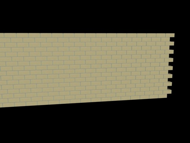 3ds max anime brick wall