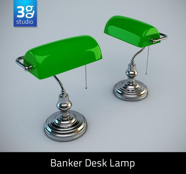 obj banker desk lamp