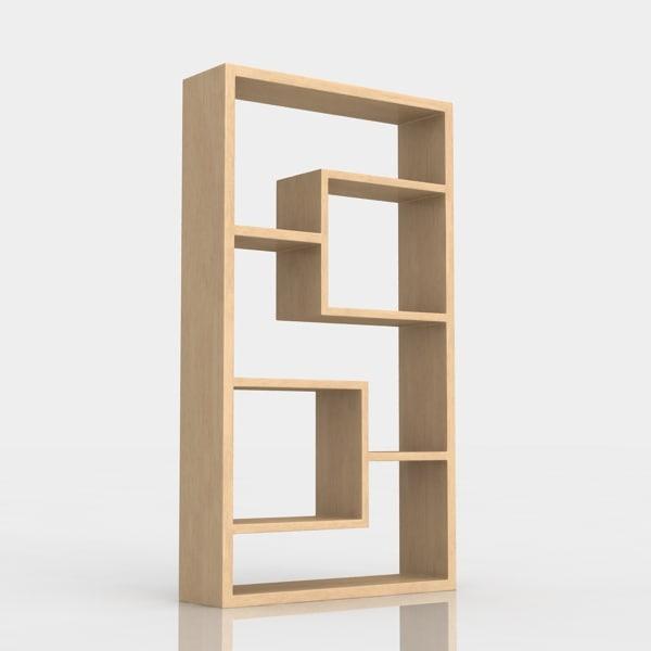 bookshelf 1 3d model