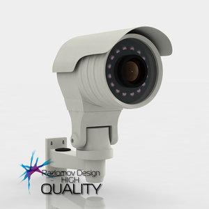 3d model security camera 1