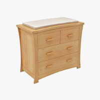 changing table child 3d 3ds