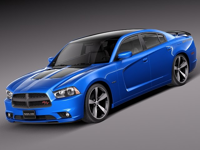 3d model dodge charger daytona 2013