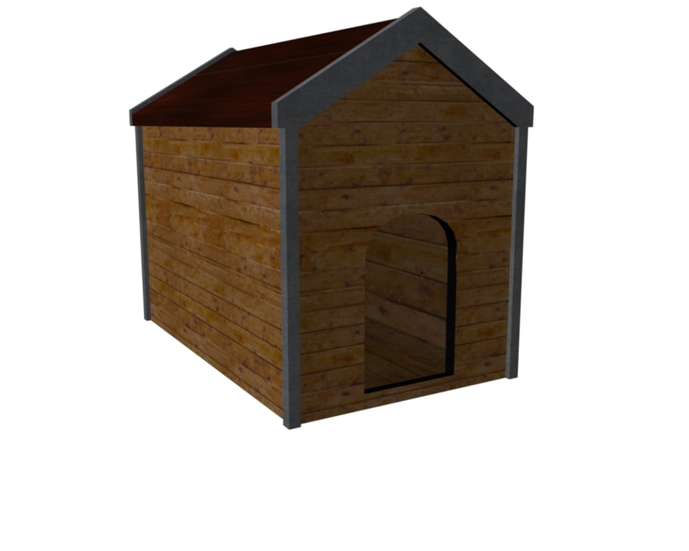 dog house 3d obj