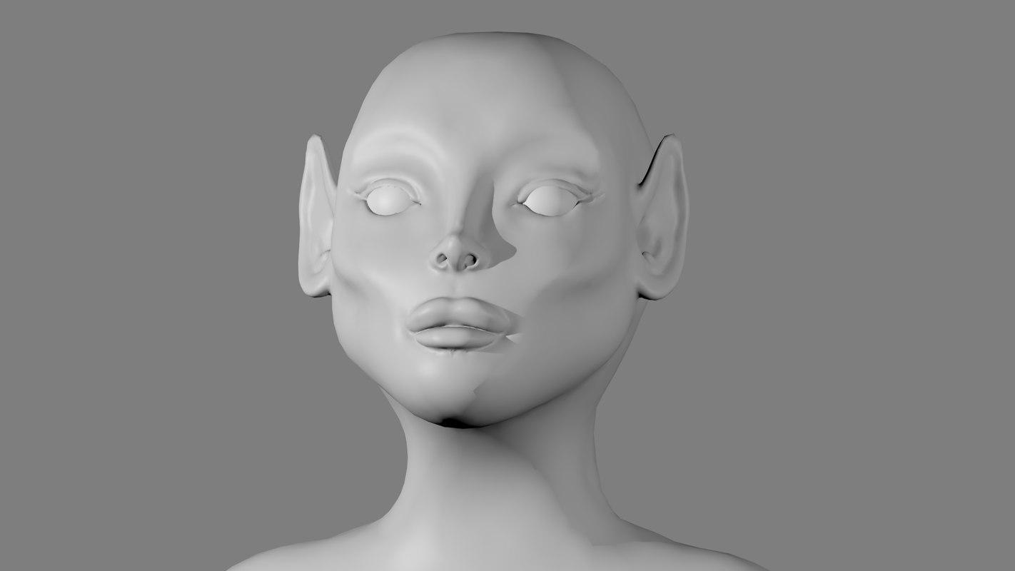 free elf woman 3d model