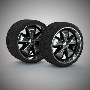 free fuchs wheels 3d model