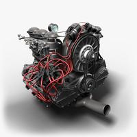 model flat motor