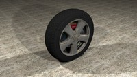 3d generic car tire rim model