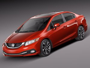 3d honda civic 2013 sedan