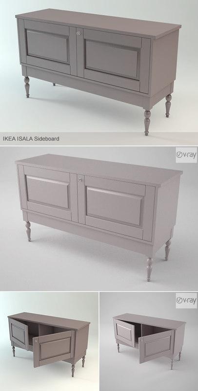 isala sideboard cabinet 3d model