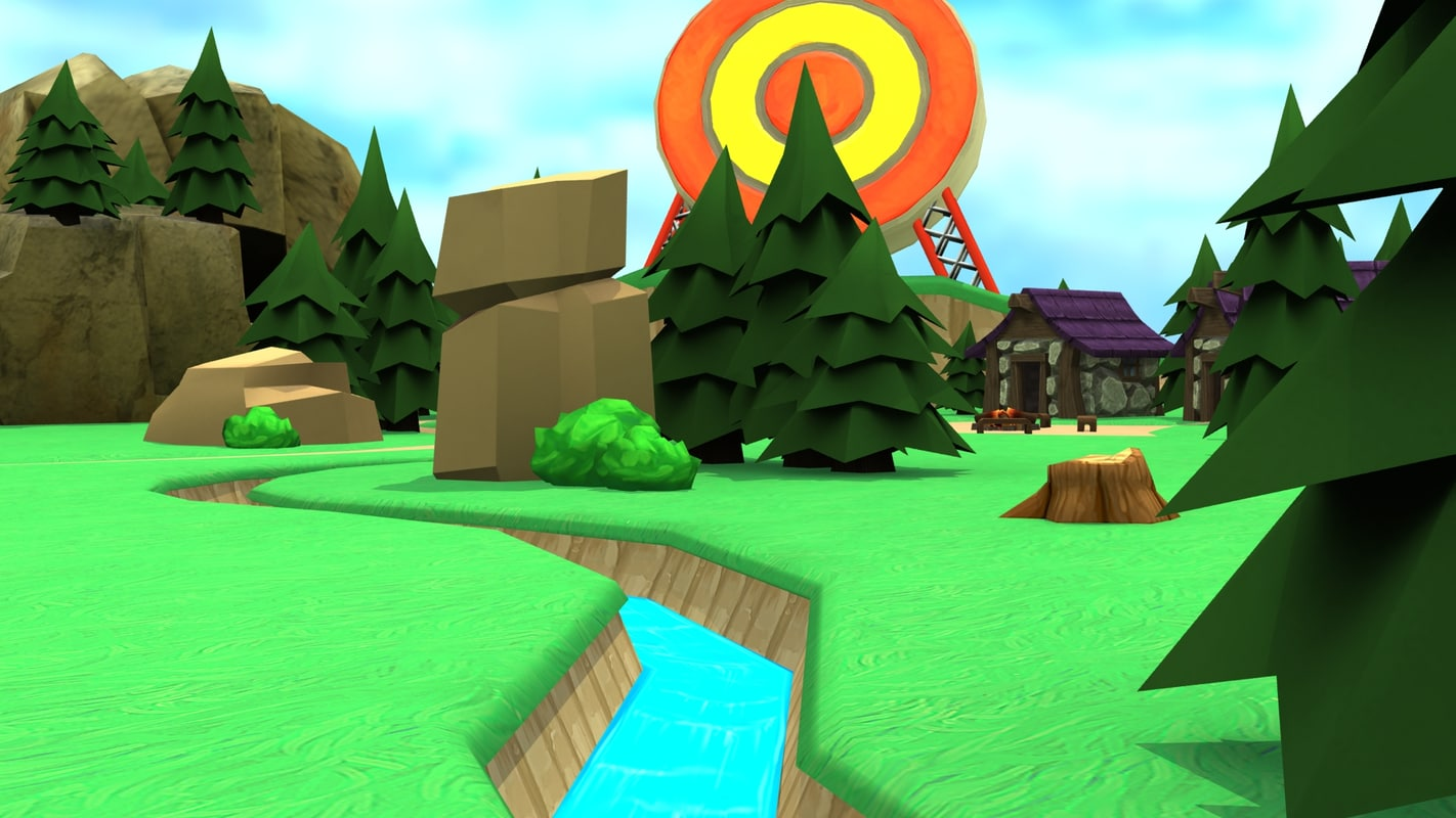 3ds max cartoon island level