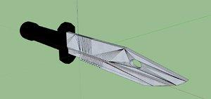 navy knife 3d 3ds