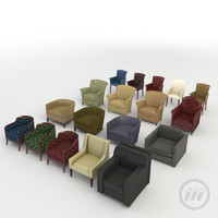 3d model modern interior chairs