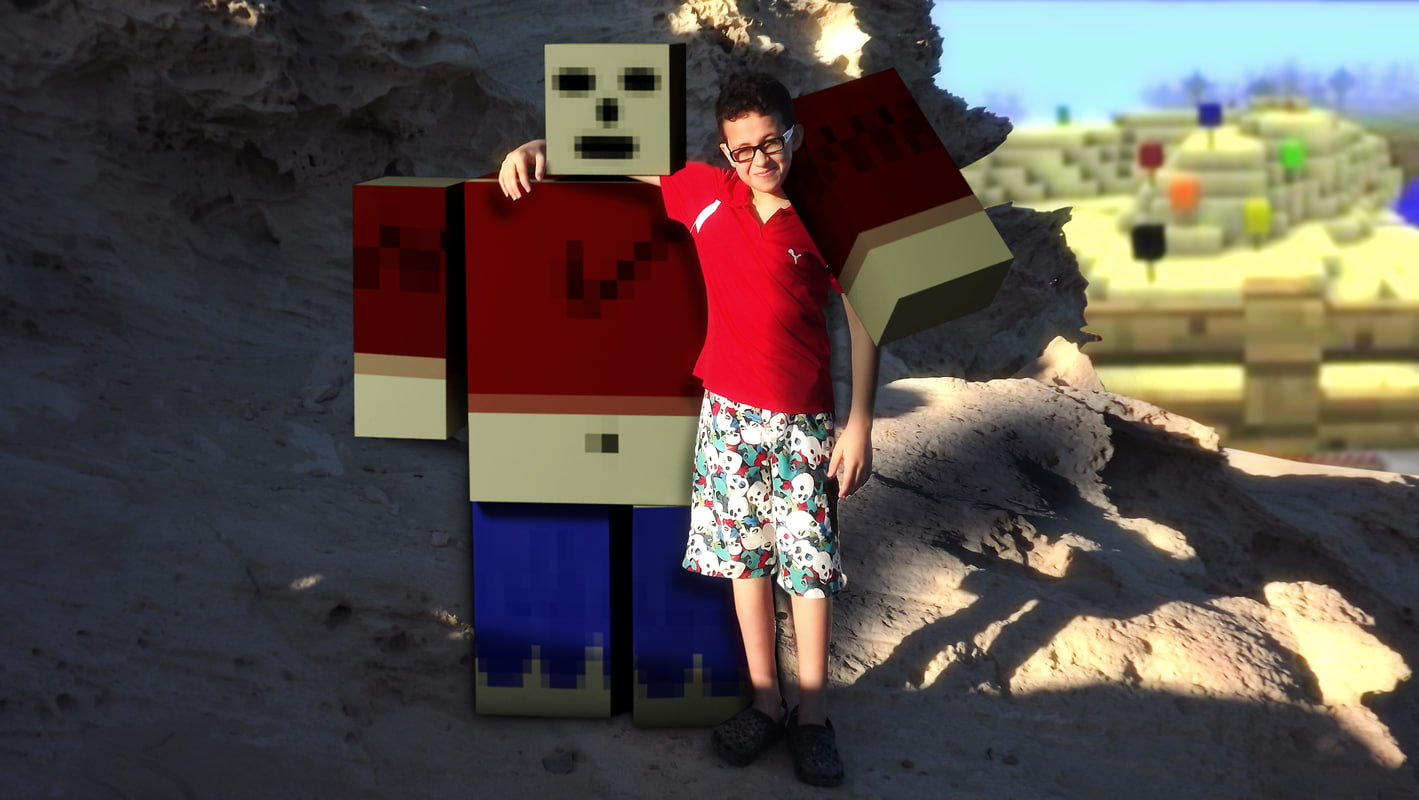3ds max minecraft character