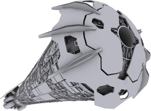 titan spaceship ship 3d model