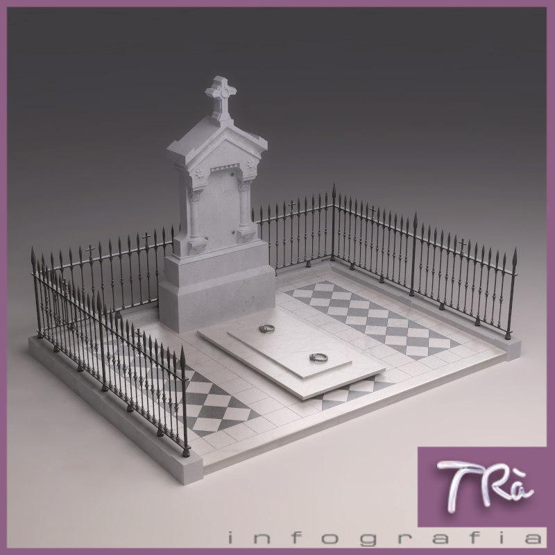 3d model of pantheon classic graveyard