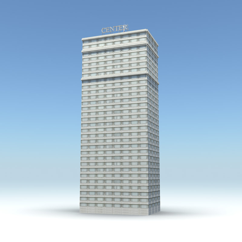 skyscraper 16 day night 3d obj