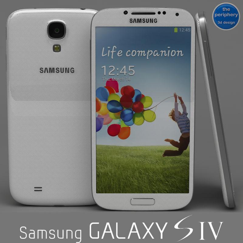 samsung galaxy s4 white 3d model